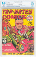 Golden Age (1938-1955):War, Top-Notch Comics #2 (MLJ, 1940) CBCS Restored (Moderate) FN+ 6.5Off-white to white pages....