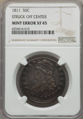 1811 50C Small 8 -- Struck Off Center -- XF45 NGC. NGC Census: (0/0). PCGS Population (75/293). From The Hamilton Coll...