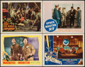 "Movie Posters:Science Fiction, The Magnetic Monster & Others Lot (United Artists, 1953). Lobby Cards (4) (11"" X 14""). Science Fiction.. ... (Total: 4 Items)"
