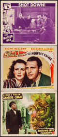 "Movie Posters:Mystery, Shadows Over Chinatown & Other Lot (Monogram, 1946). Lobby Cards (3) (11"" X 14""). Mystery.. ... (Total: 3 Items)"