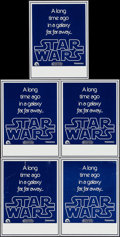 """Movie Posters:Science Fiction, Star Wars (20th Century Fox, 1977). Wild Post Handbills (5)Identical (7.5"""" X 10""""). Science Fiction.. ... (Total: 5 Items)"""