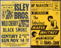 Movie Posters:Rock and Roll, Isley Brothers with Wild Cherry and Black Smoke at the Century 2Convention Hall & Other Lot (Lewis Grey, 1976). Concert Win...(Total: 2 Items)