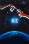 Paintings, John Alvin (American, 1948-2008). E.T. the Extra-Terrestrial, original promotional movie illustration, 1982. Acrylic on...