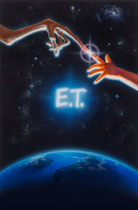 John Alvin (American, 1948-2008) E.T. the Extra-Terrestrial, original promotional movie illustration