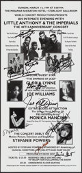 Movie Posters:Rock and Roll, Little Anthony & The Imperials at the Miramar Sheraton Hotel (World Concert Productions, 1999). Autographed 40th Anniversary...
