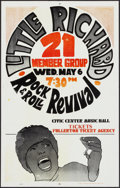 "Movie Posters:Rock and Roll, Little Richard: Rock & Roll Revival at the Civic Center MusicHall (1970s). Concert Window Card (14"" X 22""). Rock and Roll...."