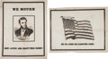 Political:Memorial (1800-present), Abraham Lincoln: Two Mourning Broadsides.... (Total: 2 Items)
