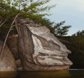 Fine Art - Painting, American:Contemporary   (1950 to present)  , Woody Gwyn (American, b. 1944). Indian Rock. Acrylic onMasonite. 28 x 30 inches (71.1 x 76.2 cm). Signed lower right: ...