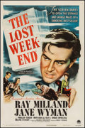 "Movie Posters:Academy Award Winners, The Lost Weekend (Paramount, 1945). One Sheet (27"" X 41""). Academy Award Winners.. ..."