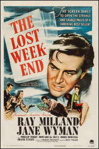 "The Lost Weekend (Paramount, 1945). One Sheet (27"" X 41""). Academy Award Winners"