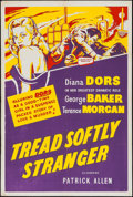 """Tread Softly Stranger (Renown Pictures, 1958). British One Sheet (27"""" X 40""""). Crime"""