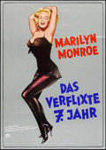 "Movie Posters:Comedy, The Seven Year Itch (20th Century Fox, R-1973). German A1 (23.25"" X 33""). Comedy.. ..."