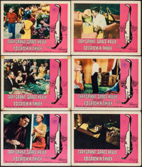 """To Catch a Thief (Paramount, R-1965). International Lobby Cards (6) (11"""" X 14""""). Hitchcock. ... (Total: 6 Item..."""