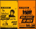 "Movie Posters:Rock and Roll, Gary Puckett and the Union Gap & Other Lot (America's BestAttractions, 1970s). Stock Concert Window Cards (2) (14"" X 22"").... (Total: 2 Items)"