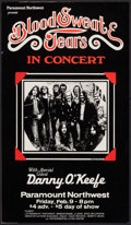 "Blood, Sweat, and Tears at the Paramount Northwest (Paramount Northwest, 1970s). Concert Window Card (14"" X 22""..."
