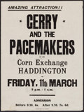 """Movie Posters:Rock and Roll, Gerry and the Pacemakers in the Corn Exchange & Other Lot(Unknown, 1960s). Concert Posters (2) (14.75"""" X 20"""" & 20"""" X30""""). ... (Total: 2 Items)"""