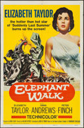 "Movie Posters:Adventure, Elephant Walk (Paramount, R-1960). One Sheet (27"" X 41"") &Lobby Card Set of 8 (11"" X 14""). Adventure.. ... (Total: 9 Items)"