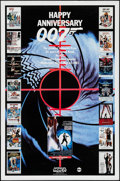 "Movie Posters:James Bond, Happy Anniversary 007 (MGM/UA Television Productions, 1987).Television One Sheet (27"" X 41"") Advance. James Bond.. ..."