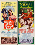 "Movie Posters:Adventure, Knights of the Round Table & Other Lot (MGM, R-1962). Inserts(2) (14"" X 36""). Adventure.. ... (Total: 2 Items)"