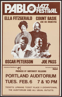 Pablo Jazz Festival Featuring Ella Fitzgerald, Count Basie and His Orchestra, Oscar Peterson, and Joe Pass at the Portla...