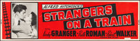 "Strangers on a Train (Warner Brothers, 1951). Silk Screen Banner (24"" X 82""). Hitchcock"