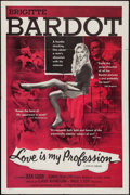 "Movie Posters:Sexploitation, Love is My Profession (Kingsley International, 1959). One Sheet(27"" X 41""). Sexploitation.. ..."