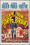 """Movie Posters:Western, Escape from Fort Bravo (MGM, R-1962/1953). One Sheet (27"""" X 41""""), Title Lobby Card & Lobby Card Set of 8 (11"""" X 14""""). Wester... (Total: 10 Items)"""