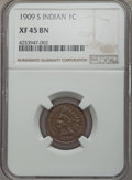 1909-S 1C XF45 NGC. NGC Census: (265/607). PCGS Population (295/741). Mintage: 309,000. ...(PCGS# 2238)