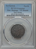 (1670-75) FARTH St. Patrick Farthing -- Environmental Damage -- PCGS Genuine. VF Details. NGC Census: (8/31). PCGS Popul...