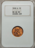 1929-S 1C MS66 Red NGC. NGC Census: (24/3). PCGS Population (36/0). Mintage: 50,148,000. ...(PCGS# 2602)