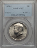 Kennedy Half Dollars, 1979-D 50C MS67 PCGS. PCGS Population (36/0). NGC Census: (5/0).Mintage: 15,815,422. ...