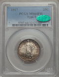 1917 25C Type One MS64 Full Head PCGS. CAC. PCGS Population (1933/1676). NGC Census: (1360/1134). Mintage: 8,740,000...