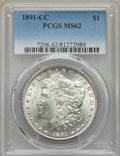 Morgan Dollars: , 1891-CC $1 MS62 PCGS. PCGS Population (3313/9400). NGC Census: (1175/2956). Mintage: 1,618,000. ...