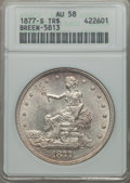 1877-S T$1 AU58 ANACS. Breen-5813. NGC Census: (228/754). PCGS Population (289/876). Mintage: 9,519,000. CDN Wsl. Price...