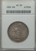 1838 50C Reed Edge AU58 ANACS. NGC Census: (224/294). PCGS Population (143/249). Mintage: 3,546,000. CDN Wsl. Price for...