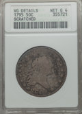 Early Half Dollars: , 1795 50C 2 Leaves -- Scratched -- ANACS. VG Details, Net Good 4. NGC Census: (29/694). PCGS Population (57/1616). Mintage: ...