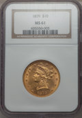 1879 $10 MS61 NGC. NGC Census: (254/133). PCGS Population (79/115). Mintage: 384,770. From The Pennsylvania Commo...(PCG...