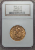 Liberty Eagles, 1885-S $10 MS61 NGC. NGC Census: (366/300). PCGS Population (169/378). Mintage: 228,000. . From The Pennsylvania Co...