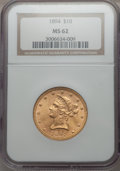 1894 $10 MS62 NGC. NGC Census: (15703/6527). PCGS Population (8674/2169). Mintage: 2,470,778. CDN Wsl. Price for problem...