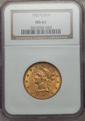 Liberty Eagles, 1903-O $10 MS61 NGC. NGC Census: (425/338). PCGS Population (207/488). Mintage: 112,771. . From The Pennsylvania Co...