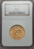 1893 $10 MS62 NGC. NGC Census: (13849/7847). PCGS Population (8313/2812). Mintage: 1,840,895. CDN Wsl. Price for problem...