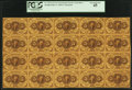 Fractional Currency:First Issue, Fr. 1230 5¢ First Issue Uncut Sheet of Twenty PCGS Extremely Fine 45.. ...