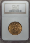 Liberty Eagles, 1899-S $10 MS62 NGC. NGC Census: (194/83). PCGS Population (142/89). Mintage: 841,000. CDN Wsl. Price for problem free NGC/...