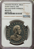 U.S. Presidents & Statesmen, Undated William H. Harrison Political Medal MS62 Prooflike NGC.DeWitt-WHH-D. White metal, 38 mm....