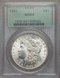 Morgan Dollars: , 1891 $1 MS64 PCGS. PCGS Population (1994/171). NGC Census: (1193/112). Mintage: 8,694,206. CDN Wsl. Price for problem free ...