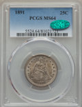 1891 25C MS64 PCGS. CAC. PCGS Population (173/98). NGC Census: (144/114). Mintage: 3,920,600. CDN Wsl. Price for problem...