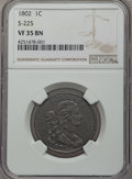 Large Cents, 1802 1C S-225, B-1, R.3, VF35 NGC. NGC Census: (2/6). PCGS Population (1/2). ...