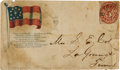 Miscellaneous:Ephemera, A Confederate-era Postal Cover from Memphis, TN Picturing the Flagof The Confederacy....