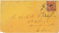 Miscellaneous:Ephemera, Confederate-era Postal Cover from Nashville, Tennessee....