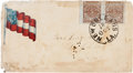 Miscellaneous:Ephemera, Confederate-era Patriotic Postal Cover Postmarked New Orleans, Louisiana....
